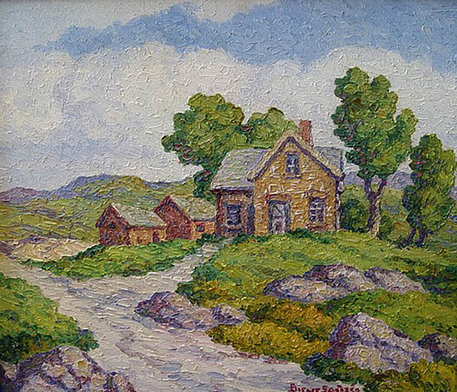 Birger Sandzen - Once a Home